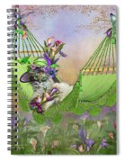 Cat In Calla Lily Hat Spiral Notebook