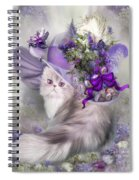 Cat In Easter Lilac Hat Spiral Notebook