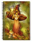 Cat In Fancy Witch Hat 3 Spiral Notebook