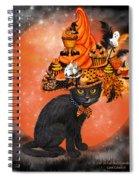 Cat In Halloween Cupcake Hat Spiral Notebook