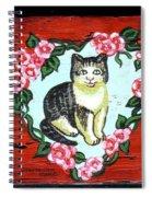 Cat In Heart Wreath 1 Spiral Notebook