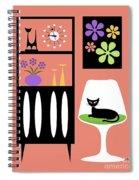 Cat In Pink Room Spiral Notebook