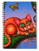Cat In Reflection Spiral Notebook