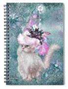 Cat In Snowflake Hat Spiral Notebook