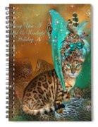 Cat In The Leopard Trim Santa Hat Spiral Notebook