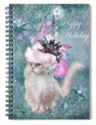 Cat In The Snowflake Santa Hat Spiral Notebook
