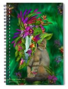 Cat In Tropical Dreams Hat Spiral Notebook