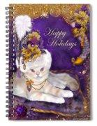 Cat In Victorian Santa Hat Spiral Notebook