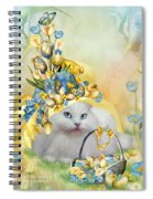 Cat In Yellow Easter Hat Spiral Notebook