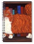 Cat On Book Shelf Spiral Notebook