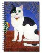 Cat On Thanksgiving Table Spiral Notebook