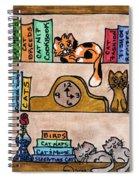 Cat Shelves Spiral Notebook