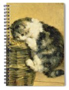 Cat With A Basket Spiral Notebook
