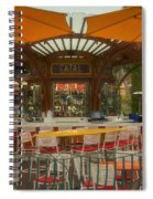 Catal Outdoor Cafe Downtown Disneyland 02 Spiral Notebook