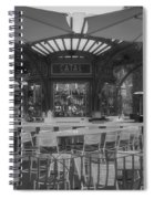 Catal Outdoor Cafe Downtown Disneyland Bw Spiral Notebook