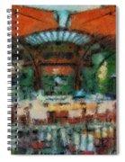 Catal Outdoor Cafe Downtown Disneyland Photo Art 03 Spiral Notebook