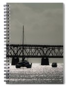 Catamaran Anchored At Old Bahia Honda Bridge Spiral Notebook