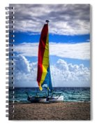 Catamaran At The Beach Spiral Notebook