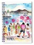 Catamaran Party In Cartagena Spiral Notebook