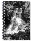 Cataract Falls Smoky Mountains Bw Spiral Notebook
