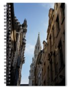 Catching A Glimpse Of Grand Place Brussels Belgium Spiral Notebook