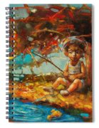 Catching A Goldfish II Spiral Notebook
