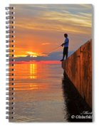 Catching A Navarre Sunset Spiral Notebook