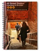Catching The Subway Spiral Notebook