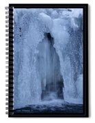 Cathedral Ice Waterfall Spiral Notebook
