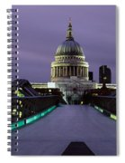 Cathedral Lit Up At Night, St. Pauls Spiral Notebook