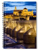 Cathedral Mosque And Roman Bridge In Cordoba Spiral Notebook