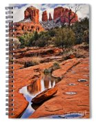 Cathedral Rock In Winter Spiral Notebook