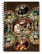 Cathedral Stained Glass Spiral Notebook
