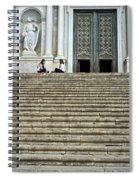 Cathedral Steps Girona Spain Spiral Notebook
