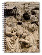 Cathedral Wall Nativity Sculpture Spiral Notebook