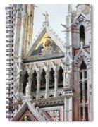 Cathedrals Of Tuscany Siena Italy Spiral Notebook
