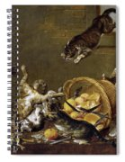 Cats Fighting In A Larder Spiral Notebook