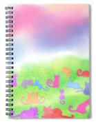 Cats In The Meadow Spiral Notebook
