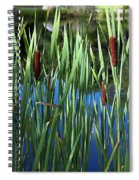 Cattail Pond In Watercolor Spiral Notebook