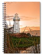 Cattails And Lighthouse In Indiana Spiral Notebook