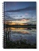 Cattails And Sunset Spiral Notebook