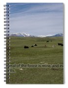Cattle And Bible Verse Spiral Notebook