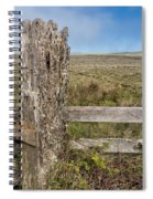 Cattle Fence On The Stornetta Ranch Spiral Notebook