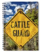 Cattle Guard Road Sign Spiral Notebook