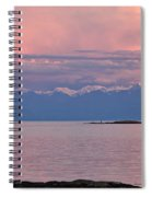 Cattle Point At Sunset On Vancouver Island British Columbia Spiral Notebook