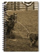 Cattle Roping In Colorado Spiral Notebook