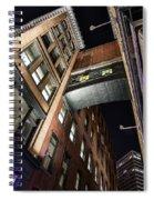Caught Between Darkness And Light Spiral Notebook