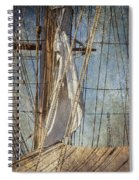 Caught By The Sea Spiral Notebook