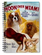 Cavalier King Charles Spaniel Art - Moon Over Miami Movie Poster Spiral Notebook
