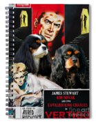 Cavalier King Charles Spaniel Art - Vertigo Movie Poster Spiral Notebook